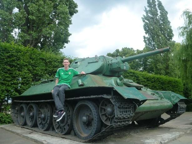 On a tank in Gdańsk, Poland