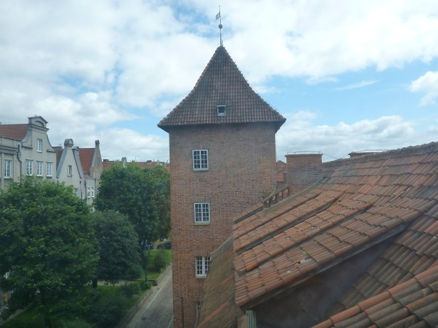 Learn Polish in Gdańsk - window view over the Old Town.