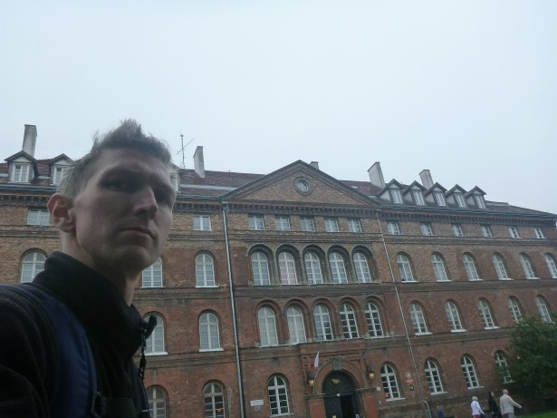 At the front of the Post office in Gdansk, Poland.