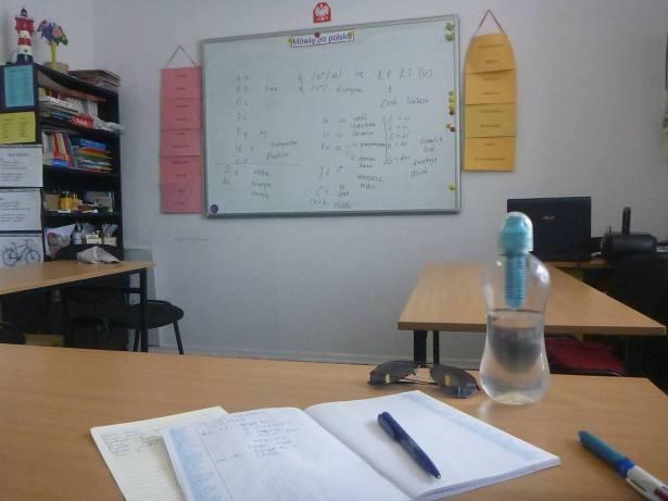Learn Polish in Gdańsk- the classroom