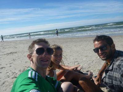 Jack, Marina and I on the beach at Słowiński National Park by the Baltic Sea.