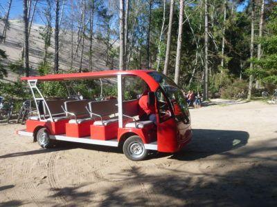 A cart at the Sand Dunes at Słowiński National Park