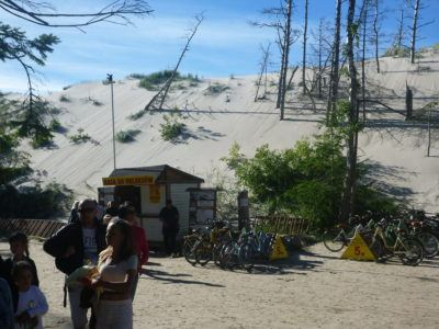 The entrance to the Sand Dunes at Słowiński National Park