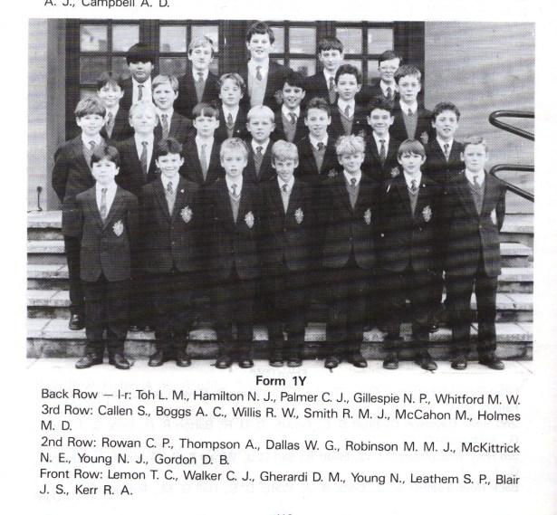 1Y, Bangor Grammar School, 1991