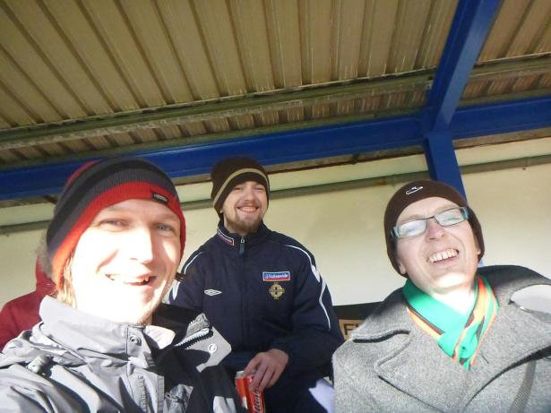 With Michael Whitford watching a football match in 2015