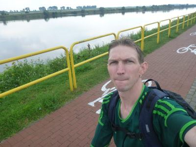Cycling in Tczew - by the Wisla River