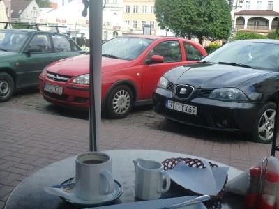 Pierogi and coffee at Plac Hallera