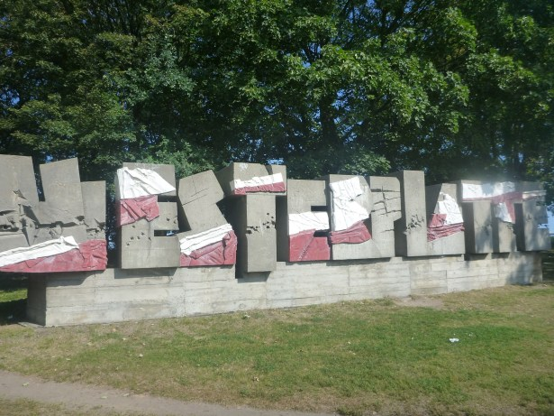 Arrival at Westerplatte - we got off the bus here.