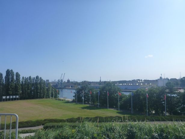 Westerplatte looking back at Gdansk