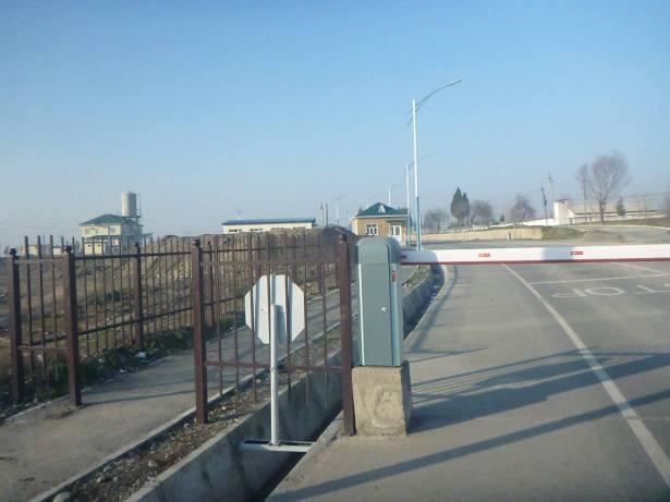 The border gate to leave Tajikistan