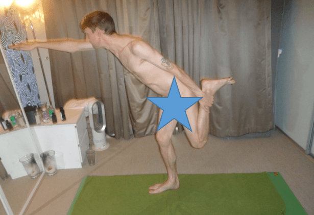 Doing naked yoga in London, England