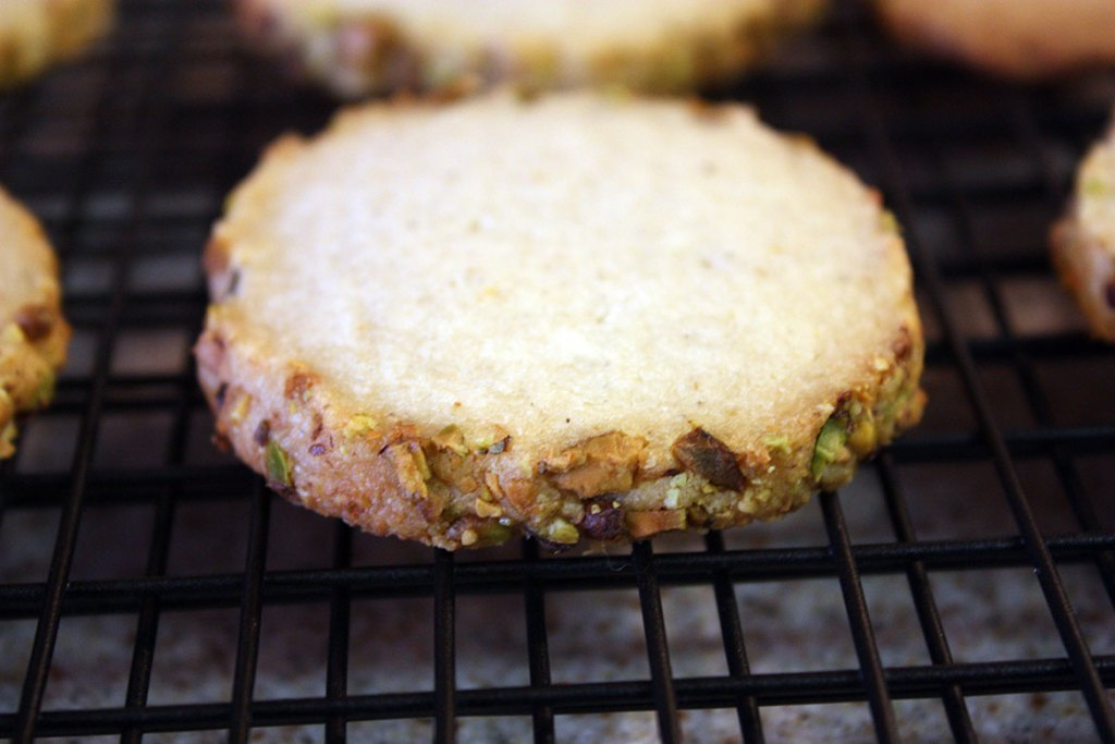 Cardamom Pistachio Cookies - Rich, buttery cardamom shortbread, crusted with loaded with pistachios!