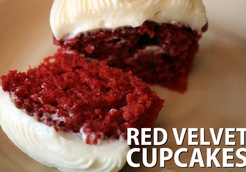 Red Velvet Cupcakes - These cupcakes are so moist and flavorful! My husband claims they are better than our local bakery.