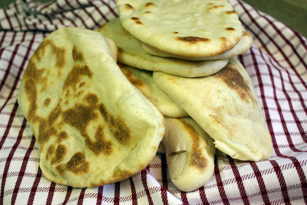 Naan Flatbread - Pillowy, soft, fresh homemade naan flatbread! Our favorite for gyros.
