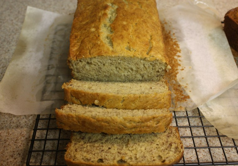 Banana Bread - You must try this super moist banana bread! This recipe makes 2 loaves so go ahead and share with a neighbor.
