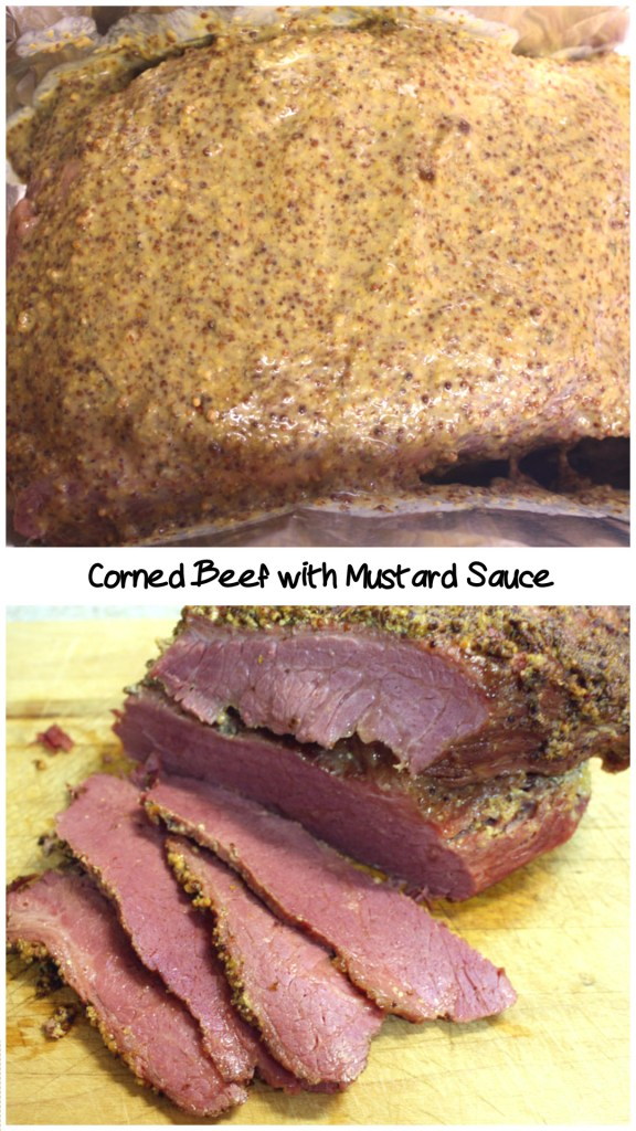 Corned Beef with Mustard Sauce - This corned beef is so flavorful, moist and tender. by Don't Sweat The Recipe