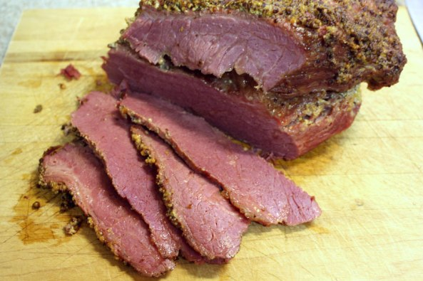 Corned Beef with Mustard Sauce. This corned beef is so flavorful, moist and tender. - by Don't Sweat The Recipe