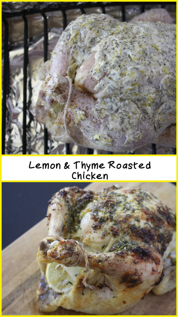 Lemon & Thyme Roasted Chicken - Moist, tender chicken full of lemon and thyme flavors!