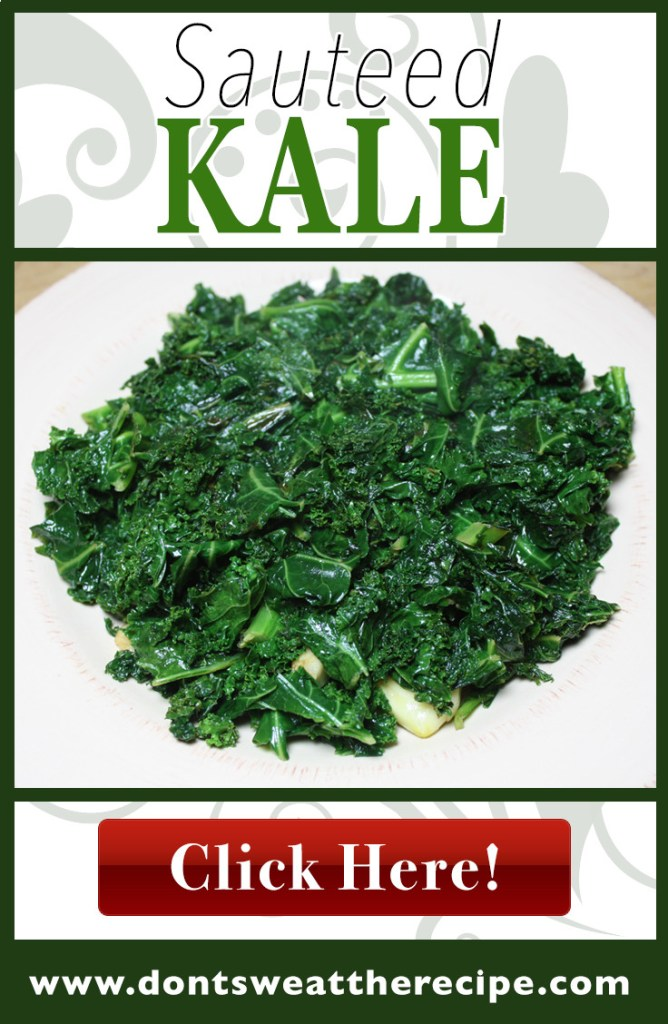 Sauteed Kale - Perfect side dish for any meal. So full of flavor you will be converted to the kale side, I promise!