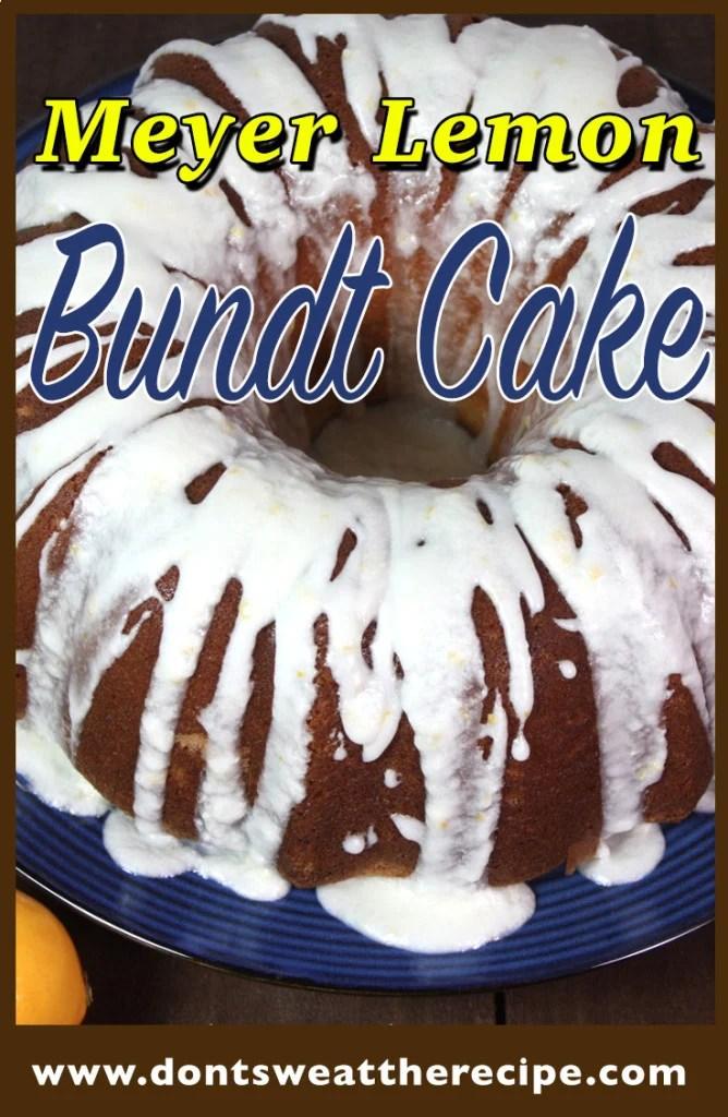 Meyer Lemon Bundt Cake - Moist, tender, lusciously tangy and not too sweet!