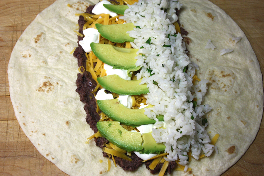 Vegetarian Burrito - An easy, meatless meal option! Fresh, tangy and absolutely delicious!