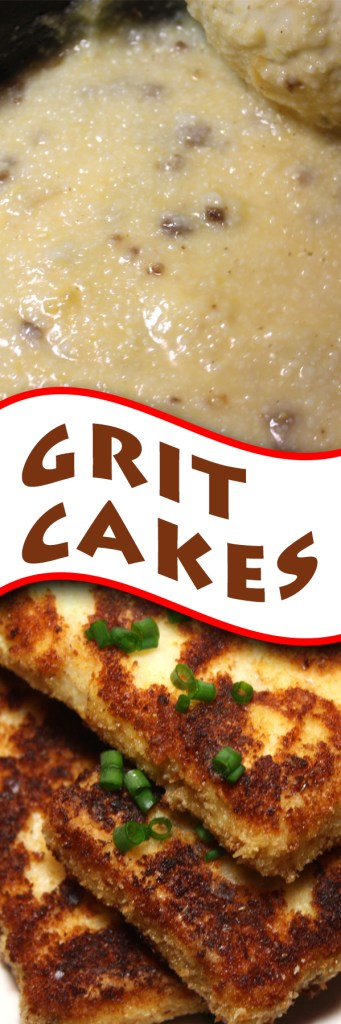 Fried Grit Cakes - A delicious alternative to how you enjoy your grits in the morning.