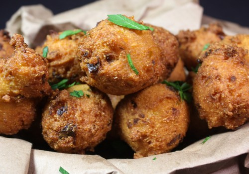 Jalapeno Hushpuppies - These spicy little fried nuggets of cornmeal are the perfect companion to any fried fish!