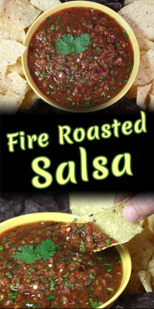 Fire Roasted Salsa - The most amazing restaurant style salsa can be made in your own kitchen! 5 minute prep, a few ingredients and a food processor or blender.
