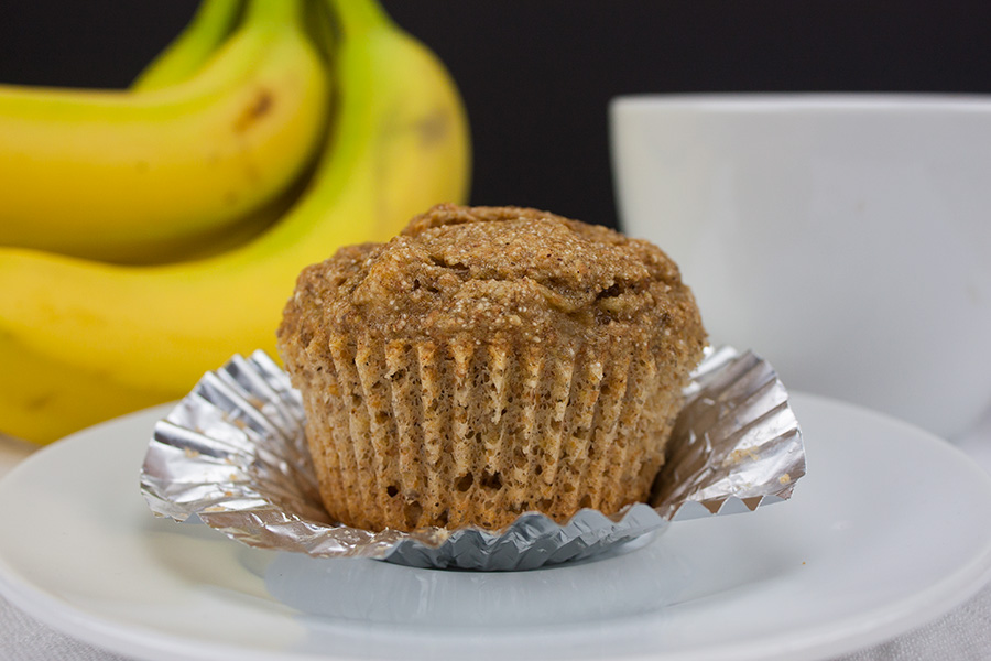 Healthy Whole Wheat Banana Muffins - Delicious, moist and better for you! How can you go wrong?