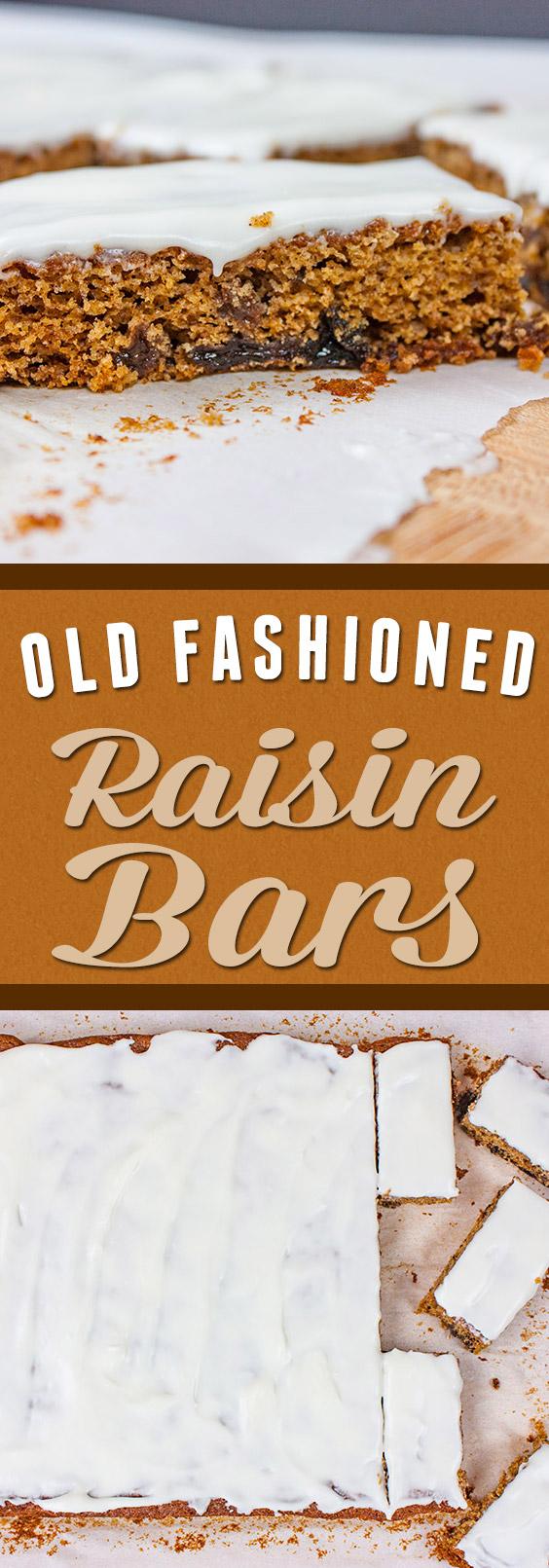 Old Fashioned Raisin Bars Recipe Clipping « m 64