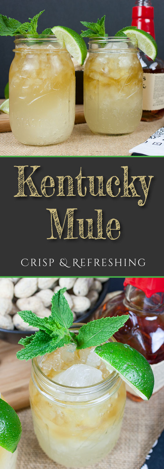 Crisp Refreshing Kentucky Mule - Perfect warm weather, porch sittin' cocktail!