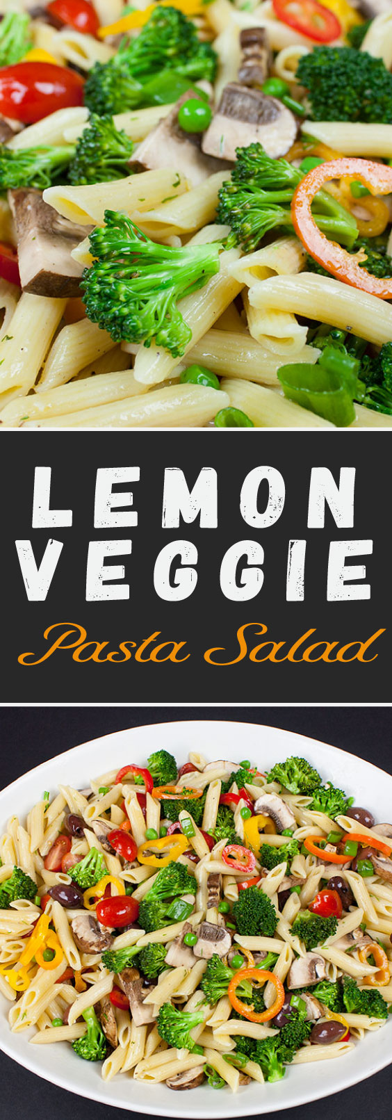 Lemon Veggie Pasta Salad - Perfect spring and summer side dish! Loaded with colorful, crisp vegetables and tossed with a light, tangy, fresh lemon dill vinaigrette.