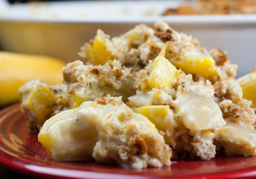 Southern Yellow Squash Casserole - CRAZY delicious! Creamy, cheesy, easy side dish for any meal.