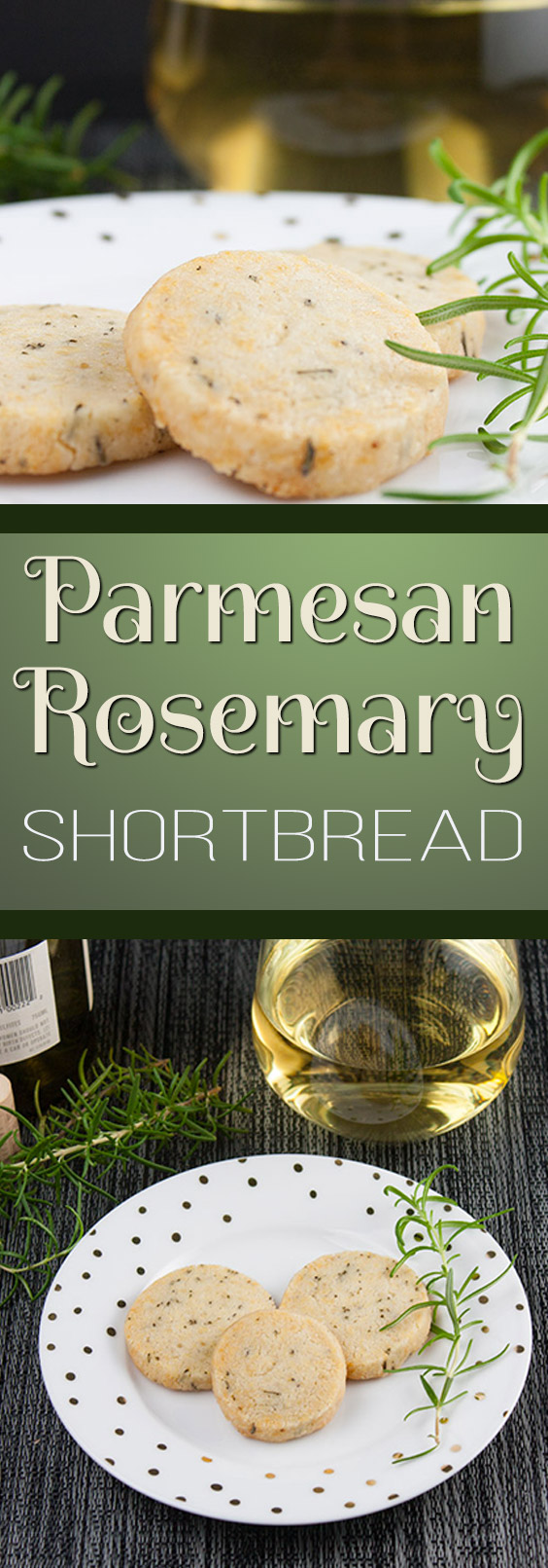 Savory Parmesan Rosemary Shortbread - Fresh rosemary, parmesan cheese and loads of fresh cracked black pepper make this the perfect cocktail appetizer or just a snack. HIGHLY ADDICTIVE!