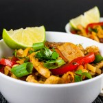 Spicy Thai Chicken Noodle Bowl - Spicy Thai noodles loaded with vegetables and chicken. Unbelievably good!