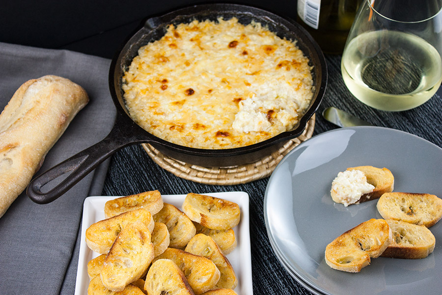 Baked Vidalia Onion Dip - Sweet Vidalia onion baked with creamy, spicy cheese and served warm with toasted bread, crackers or tortilla chips is perfect for all occasions.