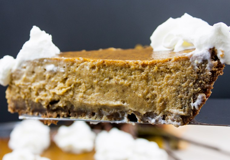 gingersnap crust pumpkin pie scratch made easy Thanksgiving Christmas recipe