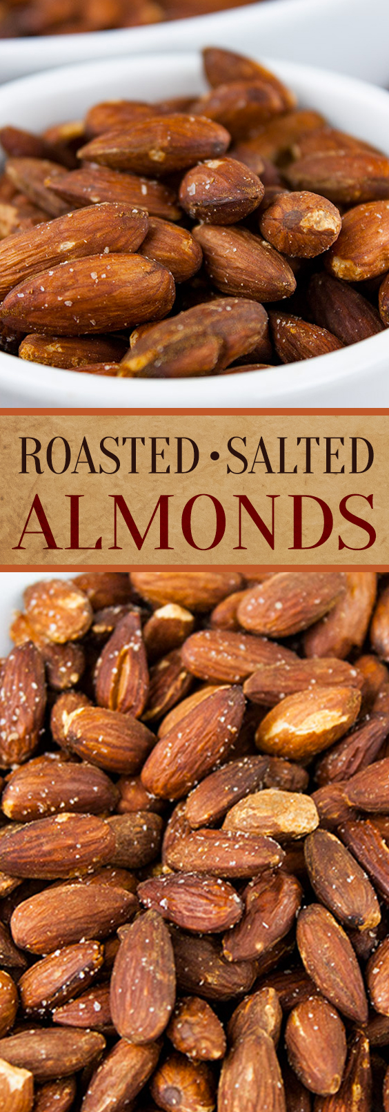 Roasted Salted Almonds - Way more cost effective and definitelytastier. Easiest recipe ever!