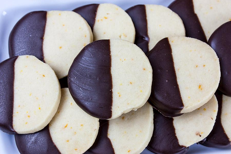 Chocolate Orange Shortbread Cookies - Don't Sweat The Recipe