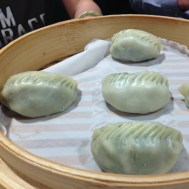 Steamed vegetarian mushroom dumplings