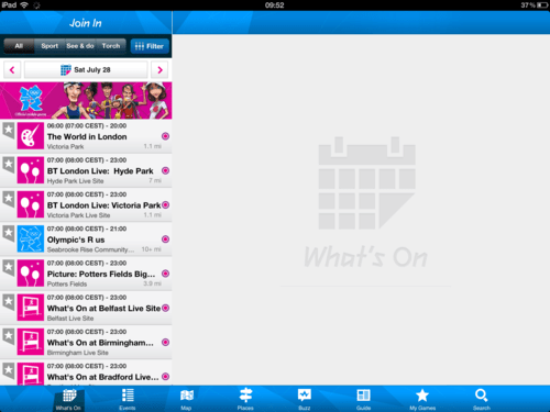 London 2012 Olympics iPad app Review