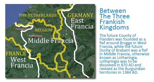 How Flanders came to be the Name of the Region Today: Between the Three Frankish Kingdoms