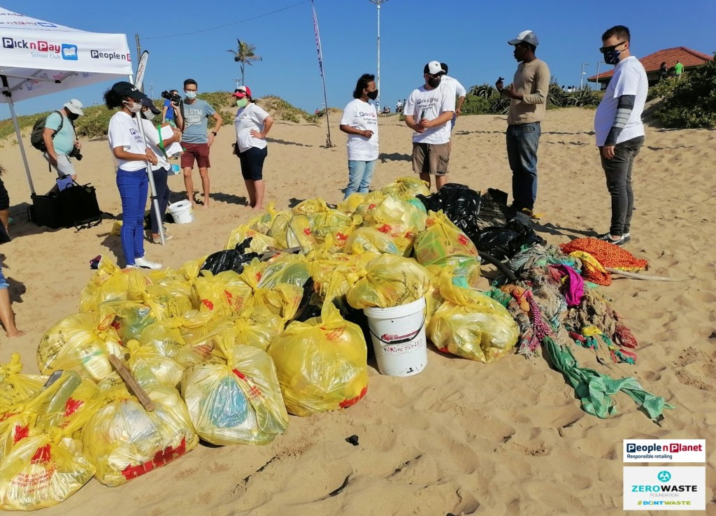 ZWF beach clean up with PnP People n Planet