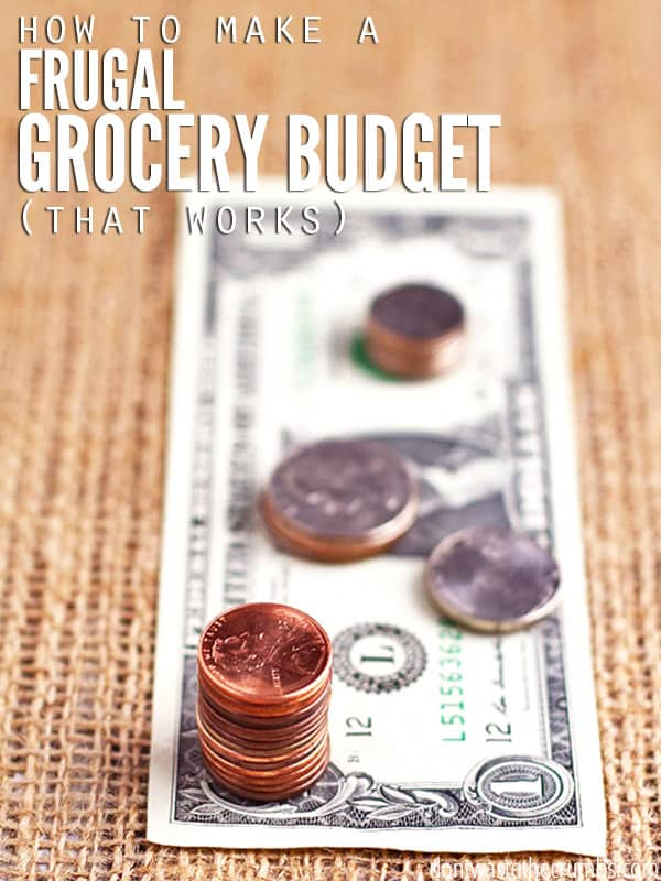 How to Make a Frugal Grocery Budget | 4 steps to lowering food costs