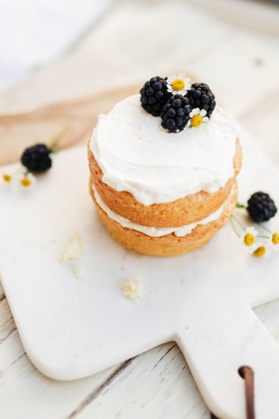 Mini Pound Cake with Whipped Cream