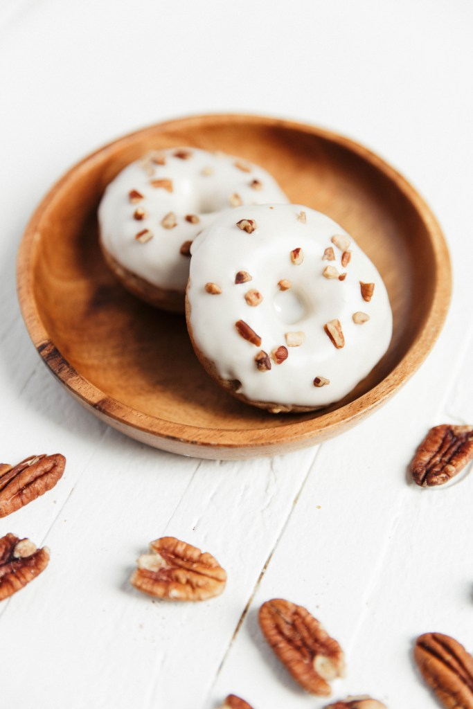 MAPLE PECAN OATMEAL DONUTS