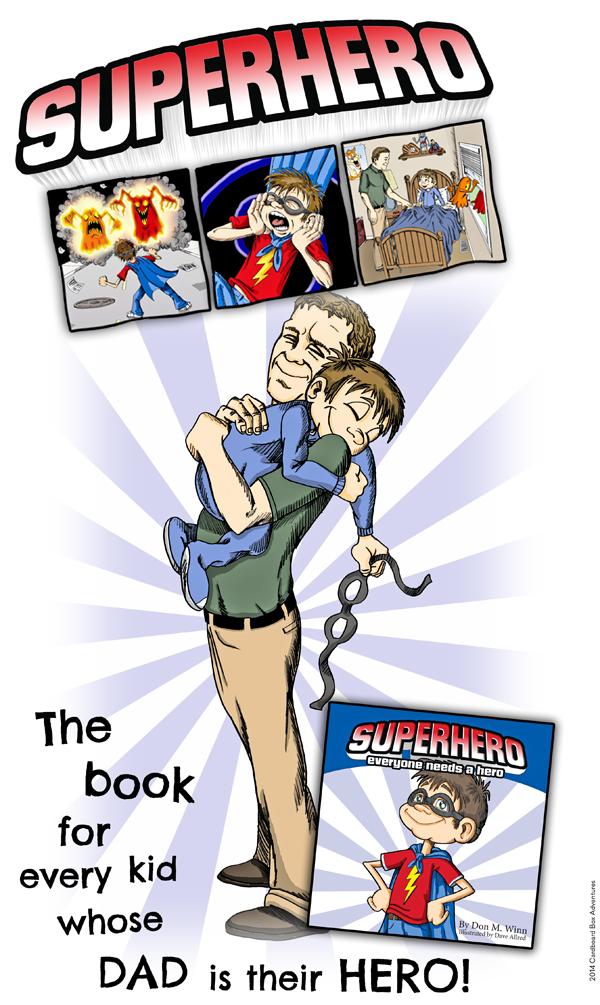 Superhero title graphic