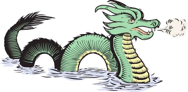 Ancient Map Dragon 72