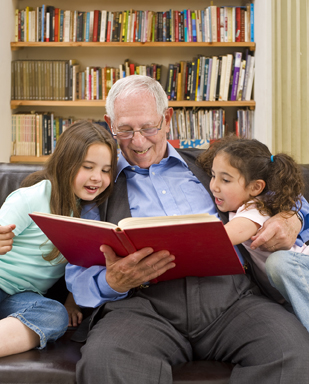Grandfather sharing stories - for blog 3