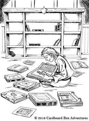 Sir Kayes friend Reggie medieval library